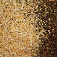 A mixture of crushed corn for better sowing
